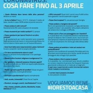 COVID-19 - DISPOSIZIONI GOVERNO ITALIANO